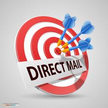Direct Mail Target, Dart Icon,...