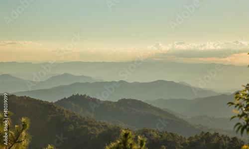 Foto auf Gartenposter Reisfelder Relax on the porch mountains of Northern Thailand..