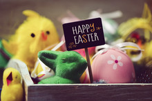Toy Rabbit And Chicks, Easter ...