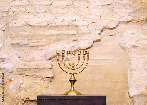 Menorah, synagogue Canvas Print