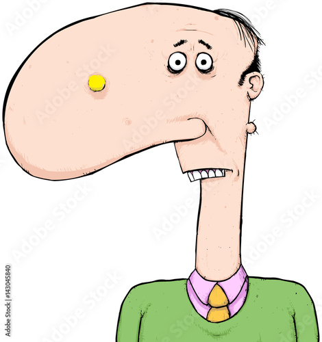 man with giant nose cartoon character always someone with a big