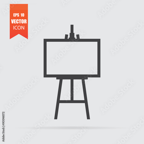 Easel icon in flat style isolated on grey background. Wallpaper Mural