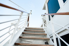 Staircase In A Big Cruise Ship.