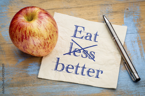 Eat better, not less - napkin concept