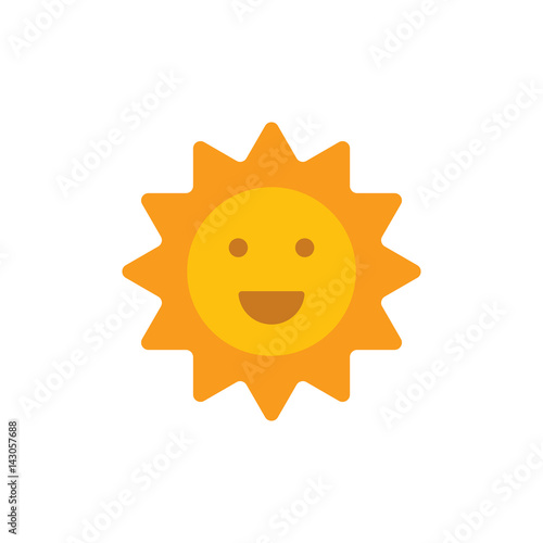 Smiling sun  Emoji icon  Happy sun  Vector - Buy this stock