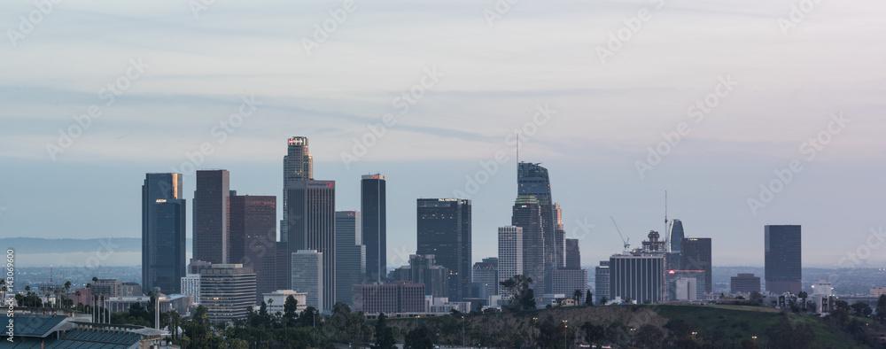Los Angeles downtown skyline sunset, California, USA