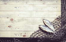 Fishing Nets And Dried Fish On...
