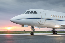 Large Private Business Jet On ...
