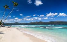 Wunderschöne Traumstrand Auf Samana. Karibische Inseln.