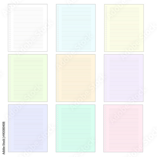 Multicolored Writing Paper Pages Notepad Notebook Sheet Colorful