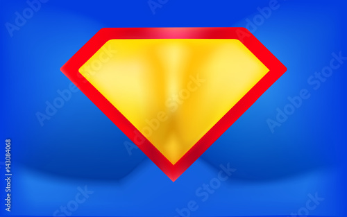 superhero logo template background in the form of a man inflated