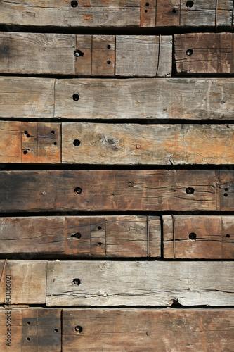 Valokuva pared muro madera traviesas tren U84A9979-f17