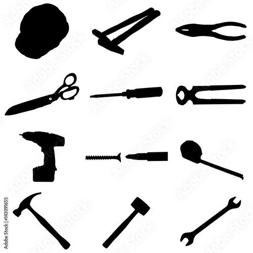 herramientas de albañil Canvas Print