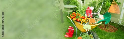 Leinwand Poster Gardening