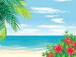 南国のビーチ イラスト