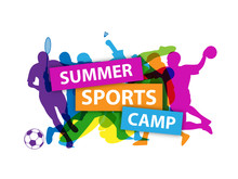 SUMMER SPORTS CAMP Banner With...