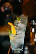 Barman preparing cocktails in pub