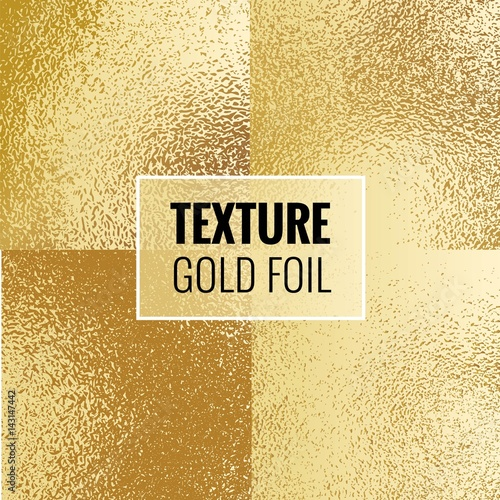 Set Of Shiny Gold Foil Textures Golden Background Template