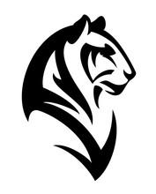 Tiger Profile Head Vector