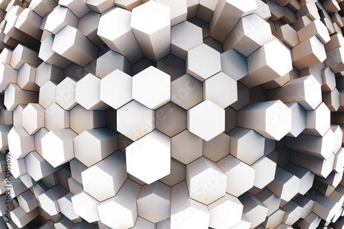 element-projektu-ilustracja-3d-wykonanie-szesciokat-streszczenie-tlo