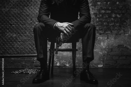 Fotografie, Tablou Imperious classy gentleman looking dangerous