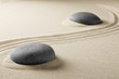 spiritual zen meditation stones in sand. Background for spa wellness buddhism and yoga...