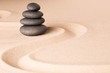 spiritual spa wellness background zen garden with sand and rock concept for harmony relaxation and meditation tao buddhism and yoga...