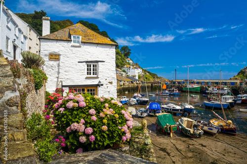 Photo  Polperro Harbour in Cornwall UK.