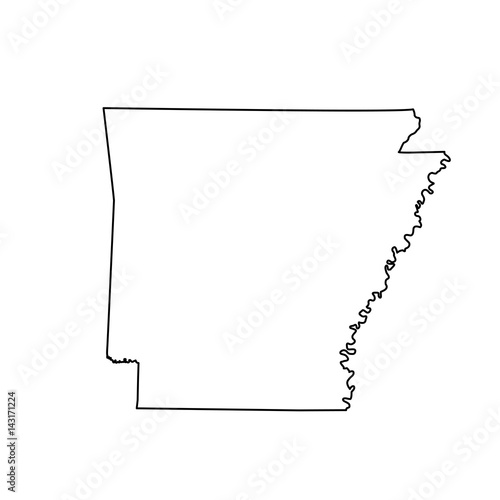 Photo map of the U.S. state Arkansas