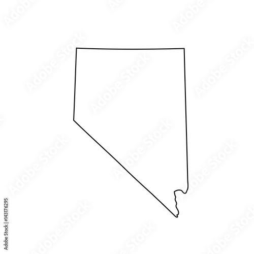 Obraz na plátně Map of Nevada on white background. Vector.