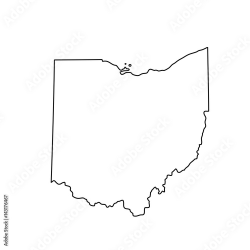 Fototapeta map of the U.S. state of Ohio obraz