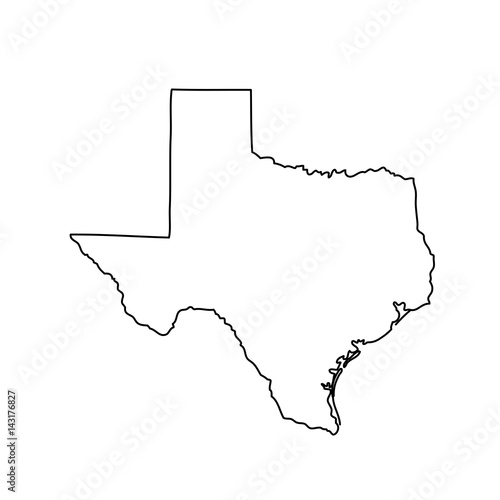 Fotografie, Obraz  map of the U.S. state of Texas