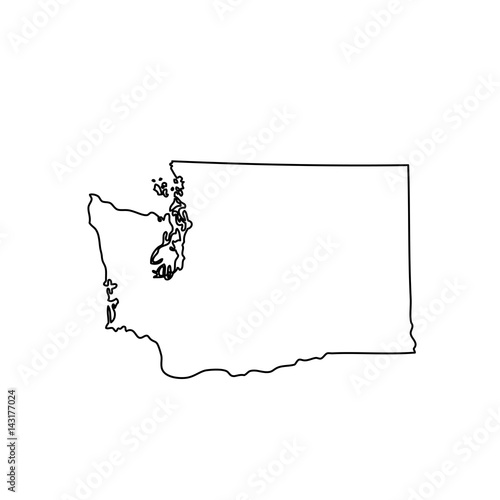 Fotografia  map of the U.S. state of Washington