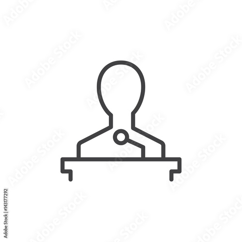 Speaker line icon, outline vector sign, linear style pictogram isolated on white Canvas Print