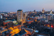 Evening Voronezh cityscape from rooftop