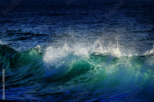Green and Blue Ocean Waves Canvas Print