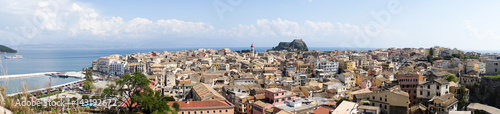 Deurstickers Canarische Eilanden View of the historic center of Corfu town, Greece
