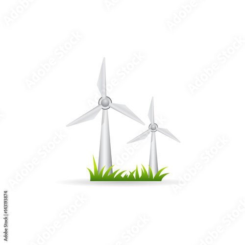 Color Icon - Wind turbine - Buy this stock vector and