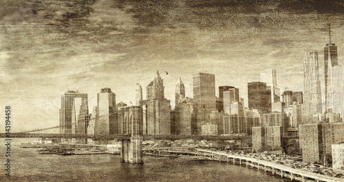 Photo  Vintage photo of New York City buildings