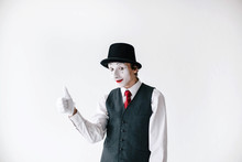 Mime In Black Hat And Waistcoa...