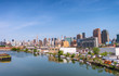NEW YORK CITY - JUNE 9, 2013: Manhattan panoramic view. New York is visited by 50 million people every year