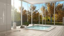 Scandinavian Bathroom, White M...