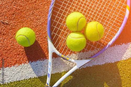 Tennis. Tableau sur Toile