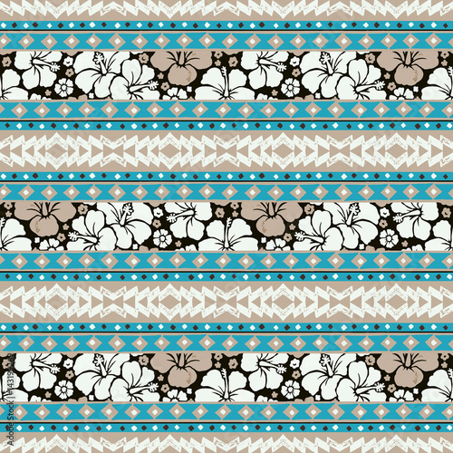 Cotton fabric Vector seamless surf pattern