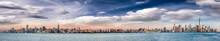 Panoramic View Of New York City Skyline At Dusk