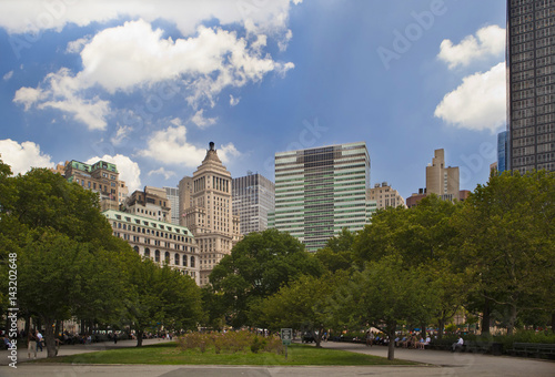 Manhattan . Battery Park. Canvas Print