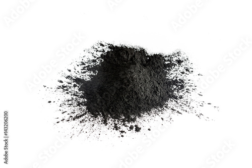 Activated charcoal powder shot with macro lens Wallpaper Mural
