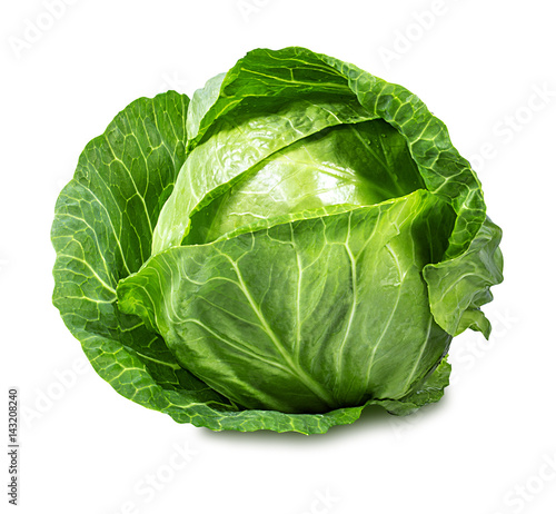 Fotografia Green cabbage isolated on white