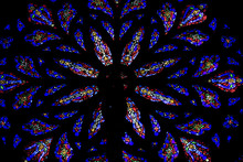 Stained Glass Windows. St.Patrick's Cathedral In New York..Stained Glass Windows. St.Patrick's Cathedral In New York..