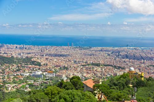 In de dag Verenigde Staten View of Barcelona from mount Tibidabo